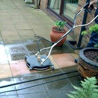 high pressure cleaning can help with slippery surfaces