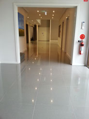 TCSAnti Slip floor coating on Cream polished foyer